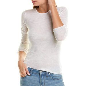 VINCE Wool Rib Knit Crew Neck Shirt Sweater